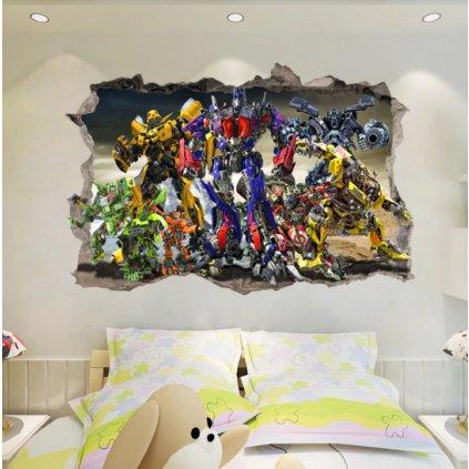 Samolepka na stenu Transformers