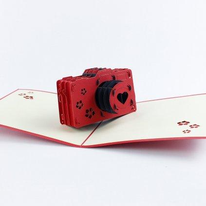 3D prianie Červený fotoaparát