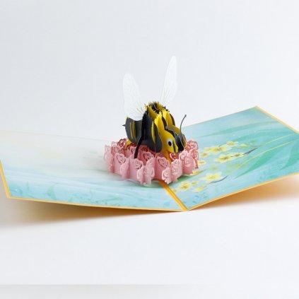 3D prianie Včela na kvete