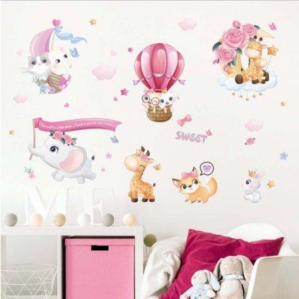 Samolepka na stenu Roztomilé zvieratká
