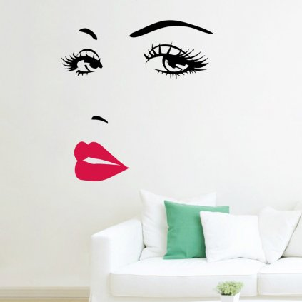 Samolepka Ženská tvár Art style
