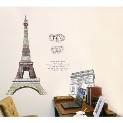 Samolepka na stenu Eiffelova veža