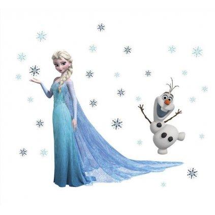 samolepka Elsa a Olaf Ľadové kráľovstvo