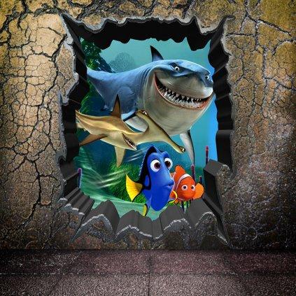 Samolepka Hľadá sa Nemo a Dory