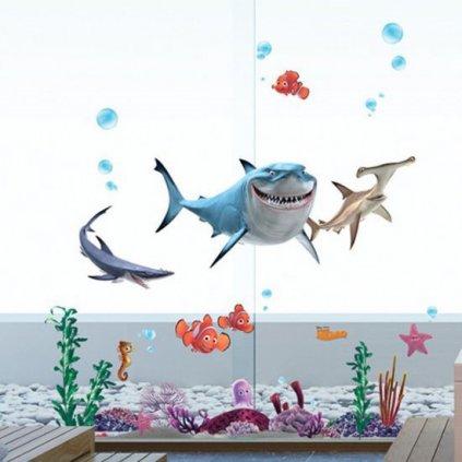 Samolepka Hľadá sa Nemo, Žraloky