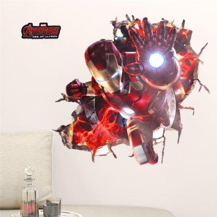 samolepka na stenu Iron Man Avengers