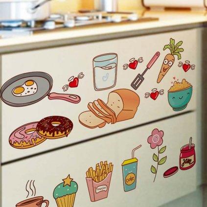 Samolepka na stenu Jedlo