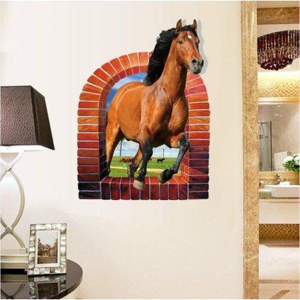 Samolepka na stenu Kôň v okne