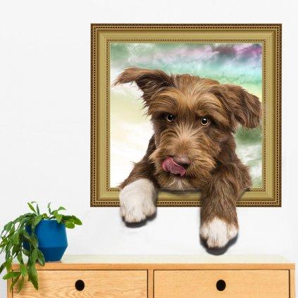 Samolepka na stene Malé šteniatko