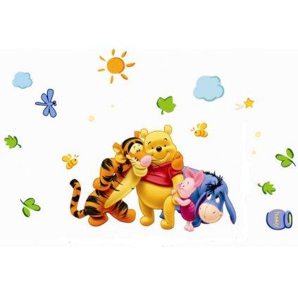 Samolepka na stenu Medvedík Pu s priatelmi