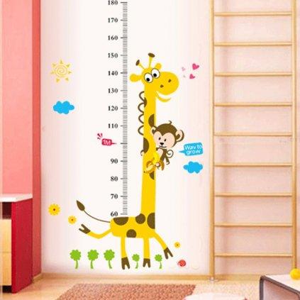 samolepka na stenu Meter Žirafa