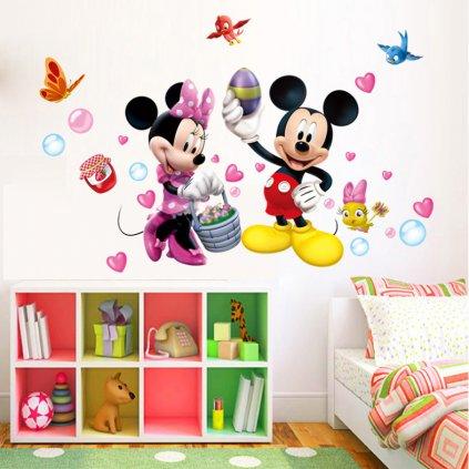 samolepka na stenu Minnie a Mickey Mouse