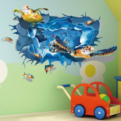 samolepka na stenu Morská korytnačka