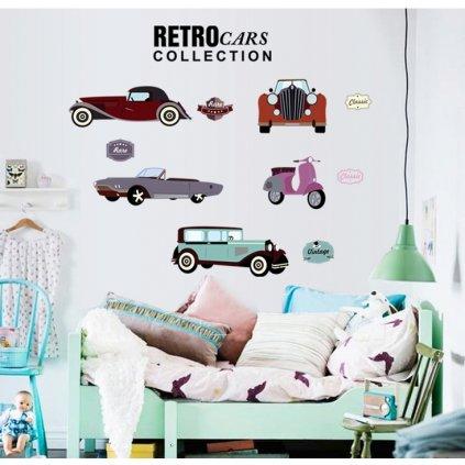 Samolepka Retro autá Veterán