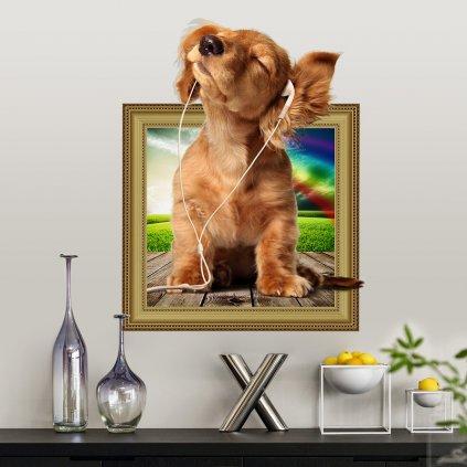 Samolepka Roztomilé šteniatko
