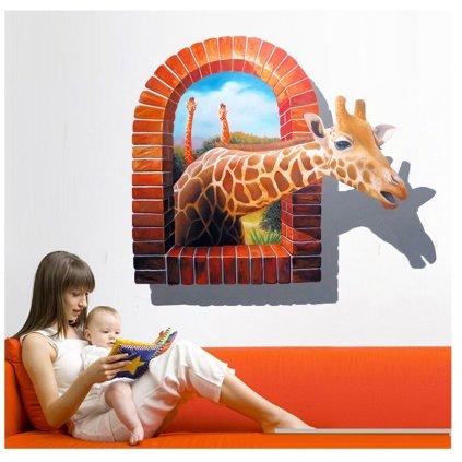 samolepka na stenu Safari Žirafa