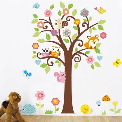 Samolepka Strom so zvieratkami