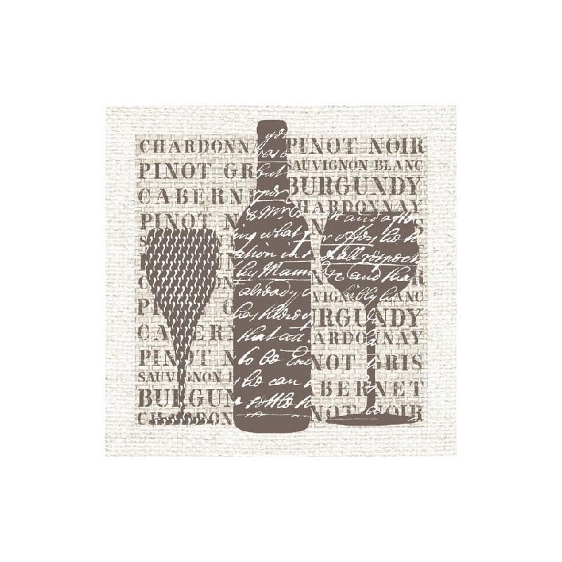 Ubrousky s motivem vína