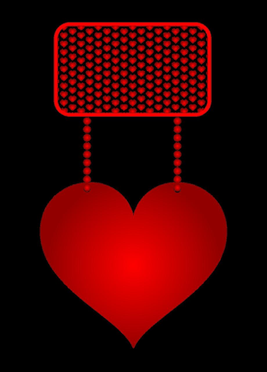 Valentýnské dekorace na zeď