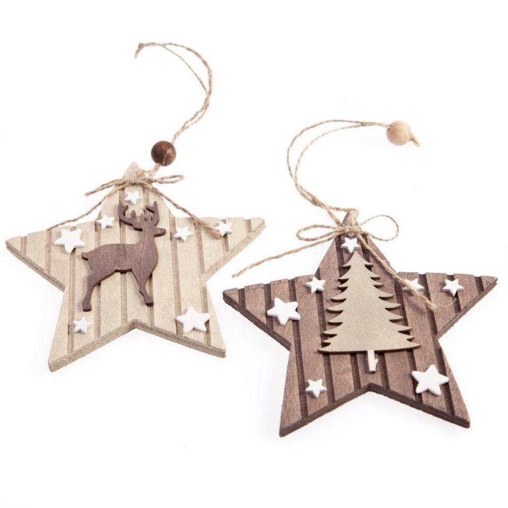 Vánoční dřevěné ozdoby