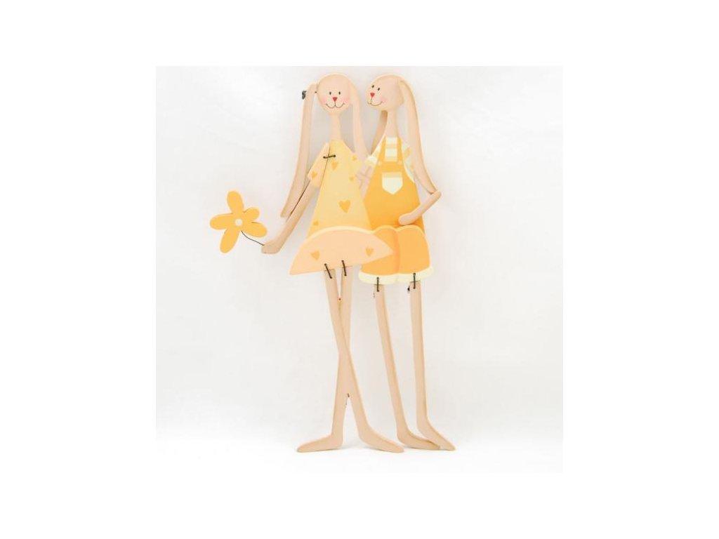 Velikonoční DEKORACE dřevěný zajíc
