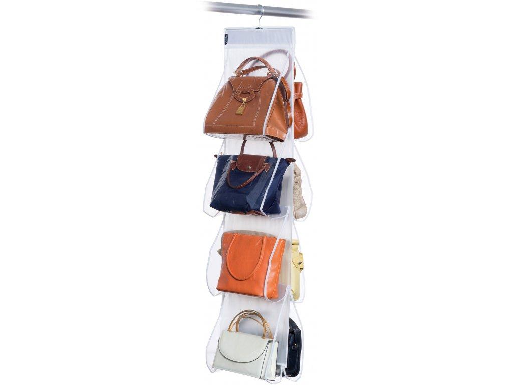 Závěsný organizér na kabelky s 8 kapsami