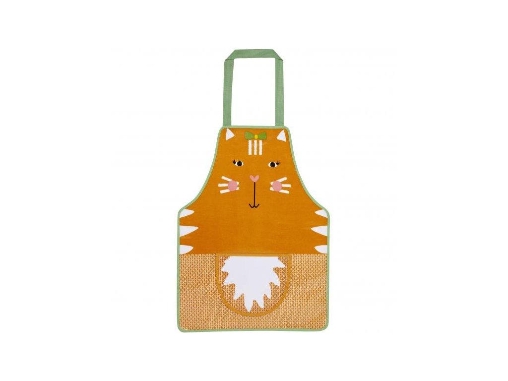 Dětská zástěra na vaření s kapsou Ginger Cat 42x57cm