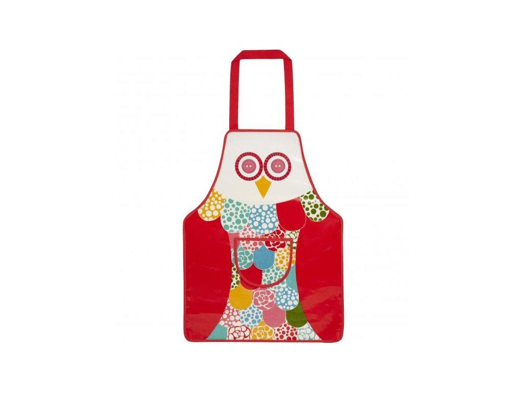 Dětská zástěra na vaření s kapsou Owl 42x57cm