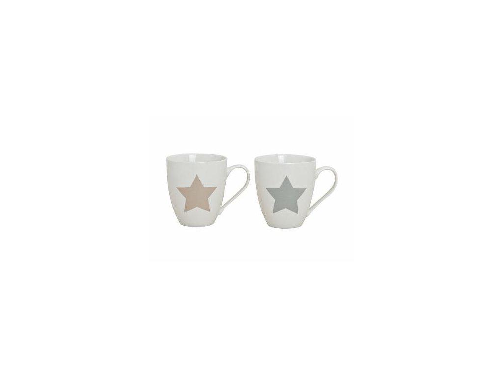 Hrnek s ouškem | bílý | hvězda | set 2ks