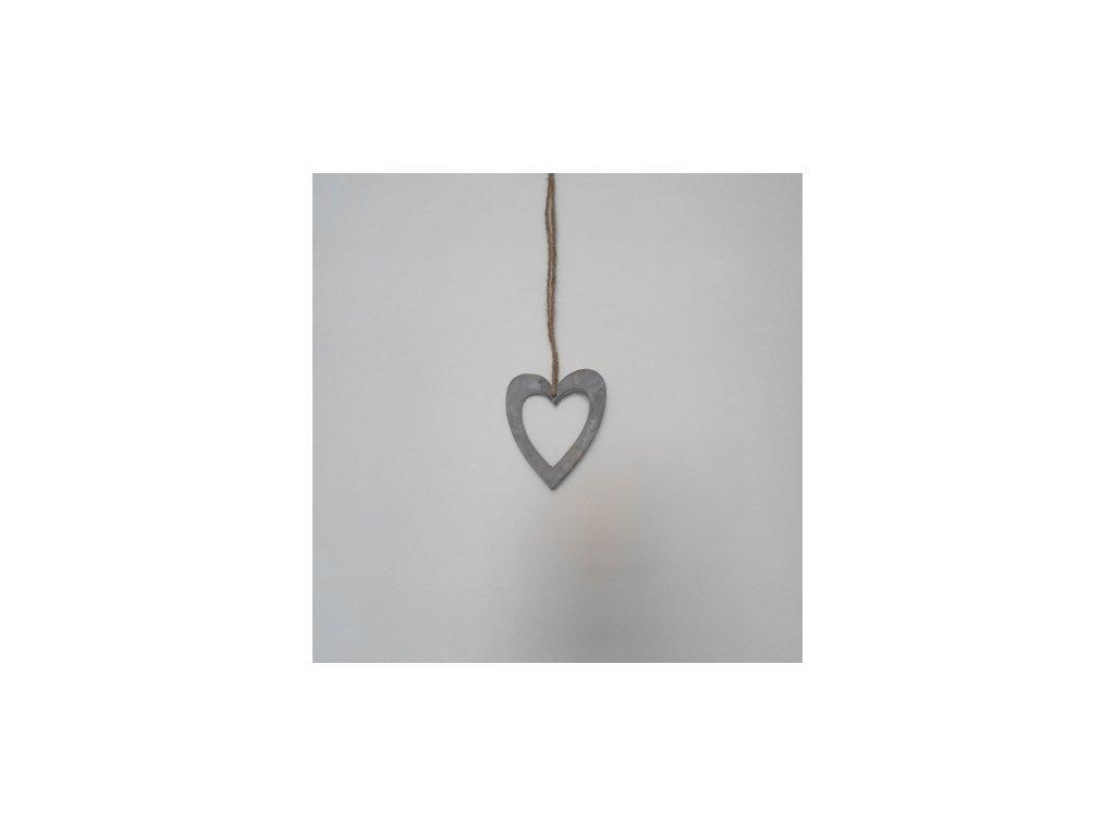 Srdce na provázku 12cm