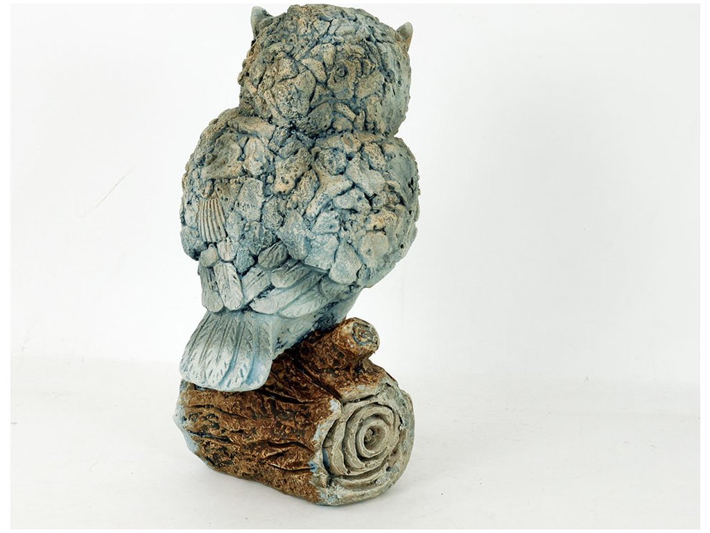 Sova Na špalku Mgo Keramika Zahradní Dekorace Veselá