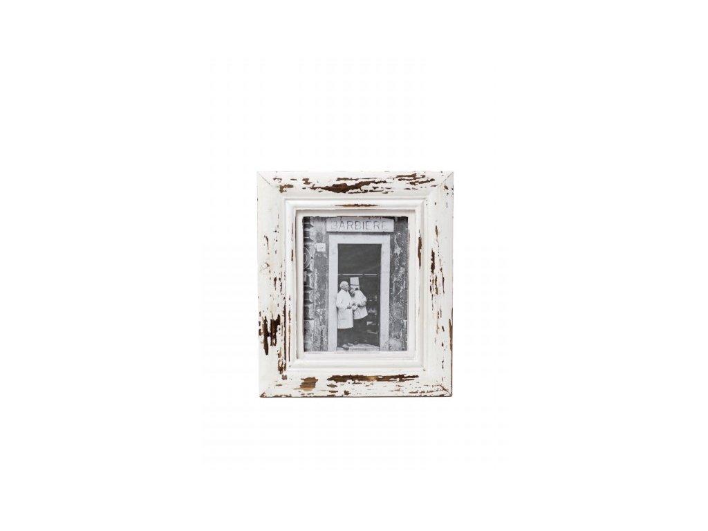 Fotorámeček   bílý   patina   30x35x3cm