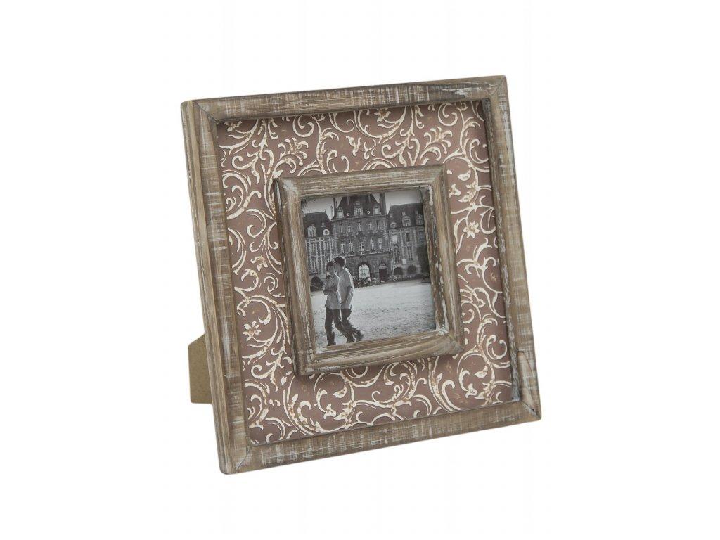 Fotorámeček | hnědý | s ornamenty | 22x22x2cm
