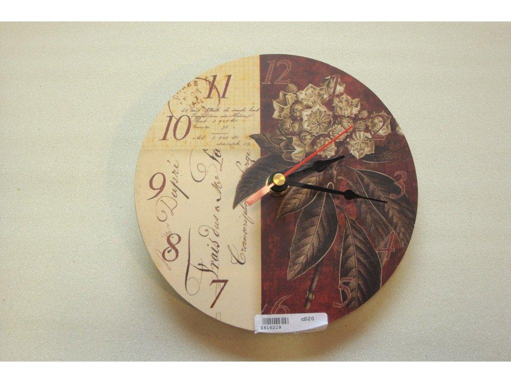 HODINY Nástěnné hodiny Kaštan 17cm