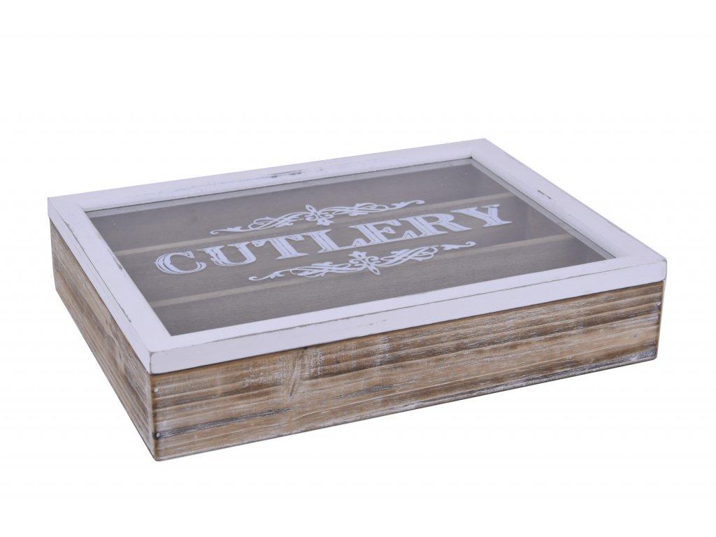 Dřevěný box na příbory