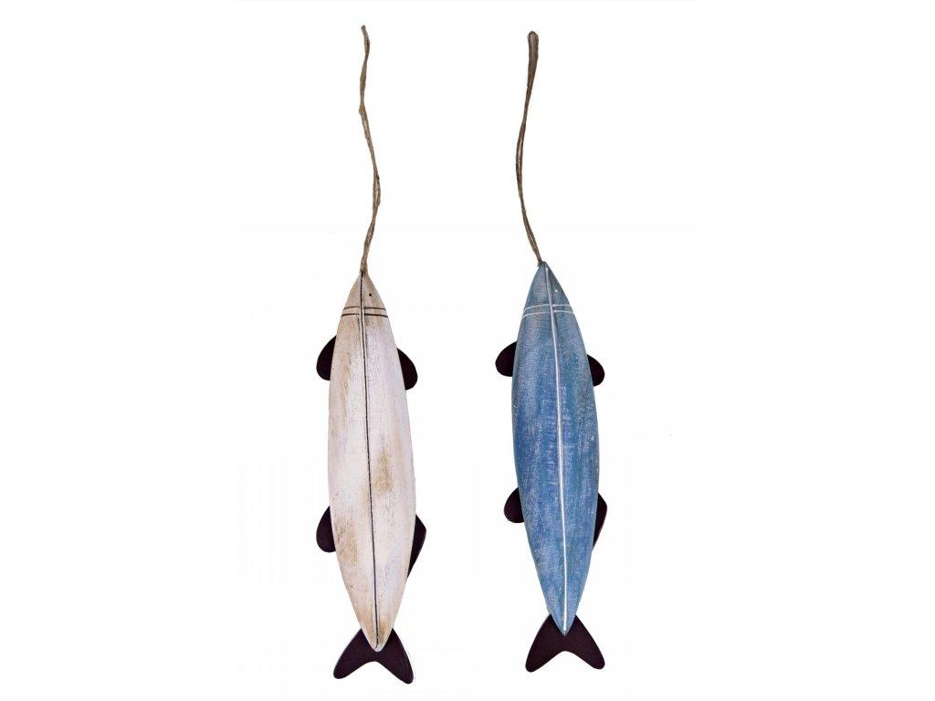 Dekorace ryba | bílá a modrá | 3 velikosti