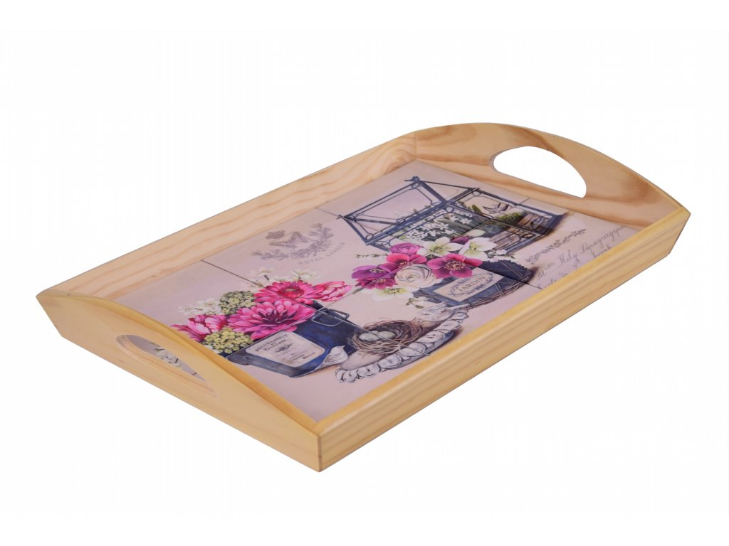 Dřevěný podnos Skleník 52x34,5x5cm