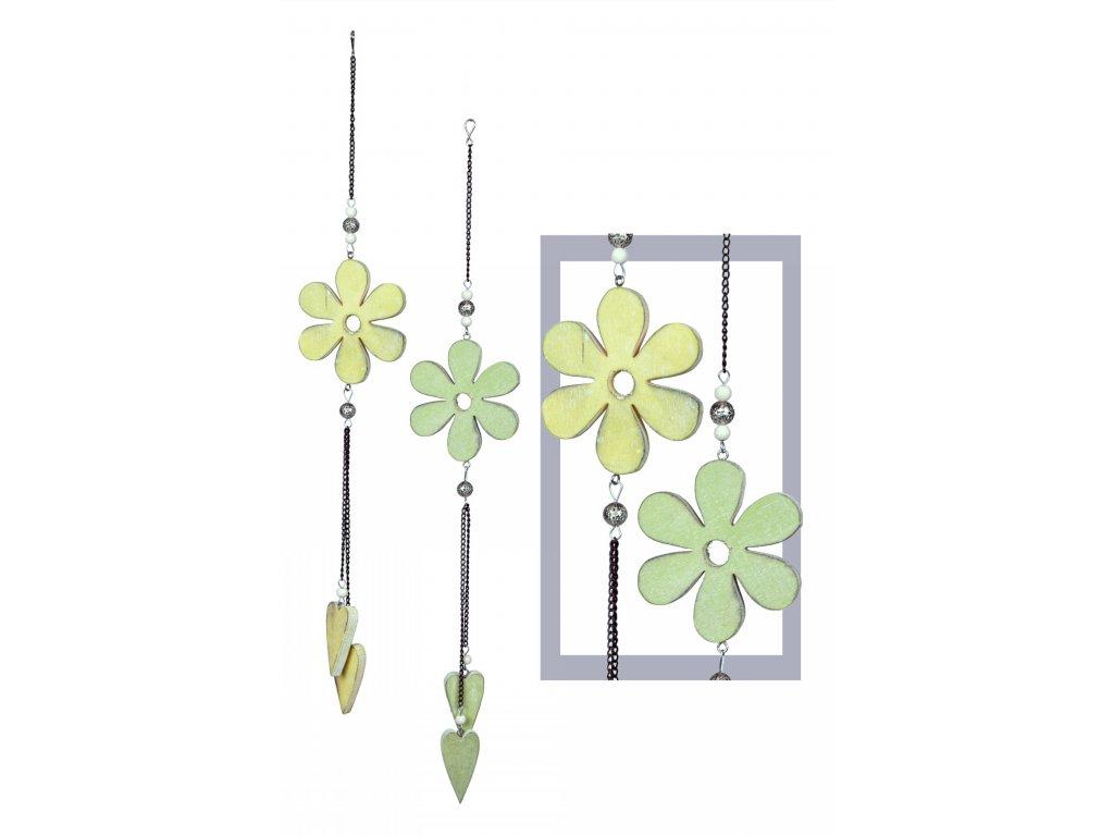 Závěsná kytička | se srdíčky | 37x8x1cm
