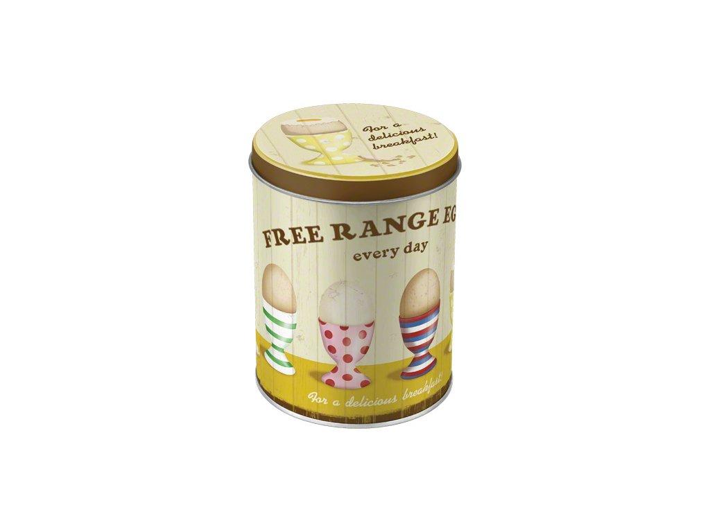 Dóza na potraviny Free Range Eggs 10x13cm