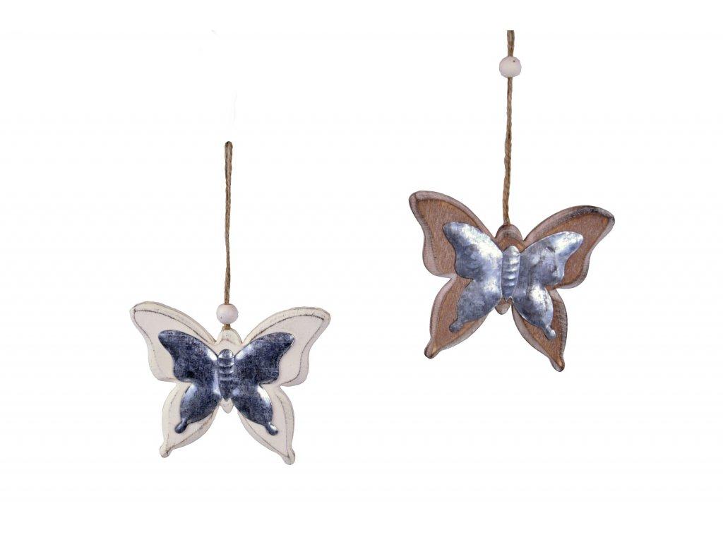 Závěsný motýl s kovovým středem 11x9x0,8cm