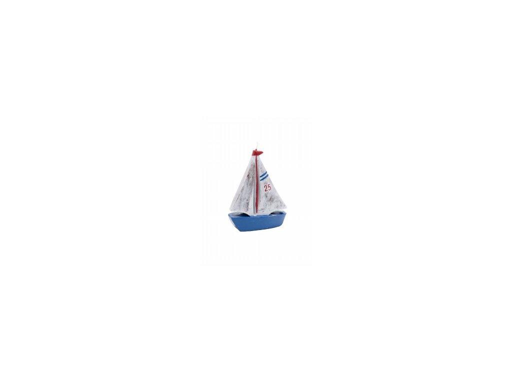 Svíčka | plachetnice | 10x13x3cm