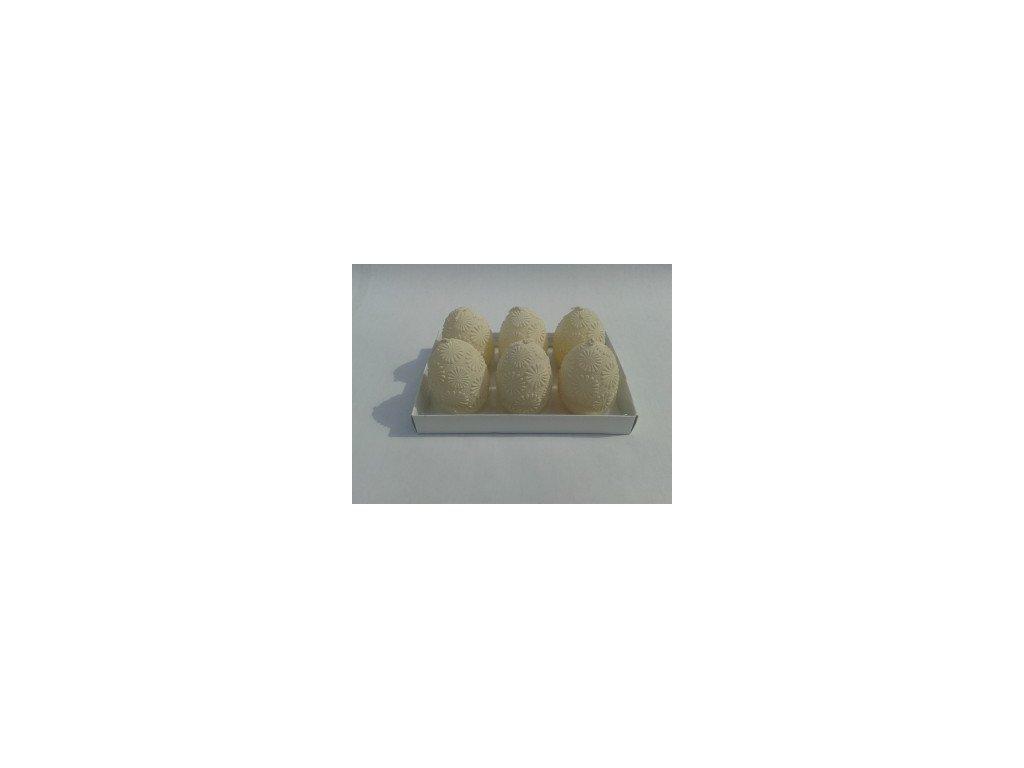 Svíčka | vejce s plastikou | set 6ks | 12,5cm