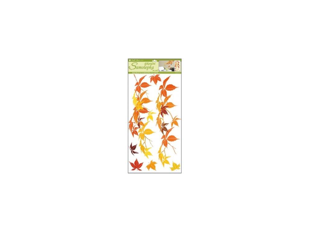 Samolepky na zeď podzimní listí 69x32cm