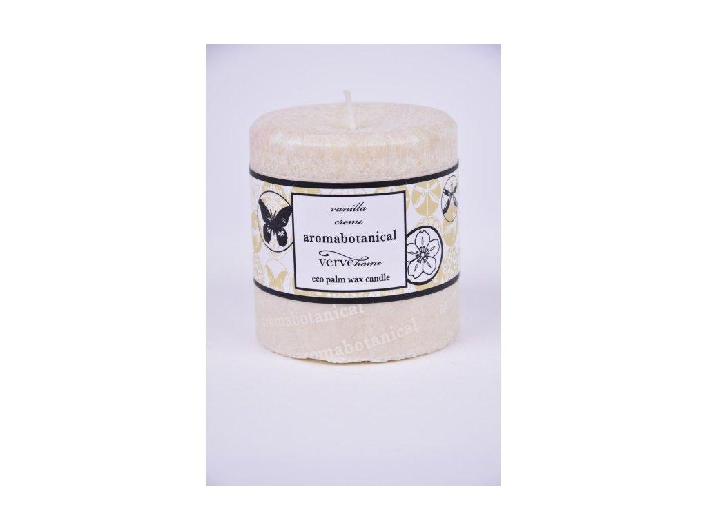 Vonná svíčka z palmového vosku | vanilka | 7,5x6,5cm