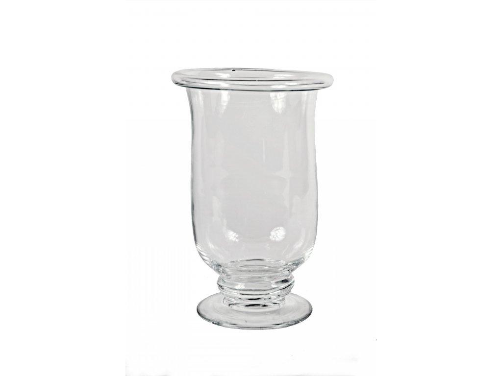 Váza skleněná na noze 35x24cm