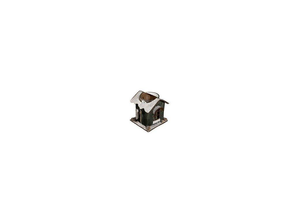 Lucerna domeček 8,5x8,5x8,5cm