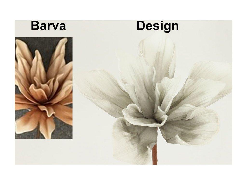 Umělá květina - hnědá