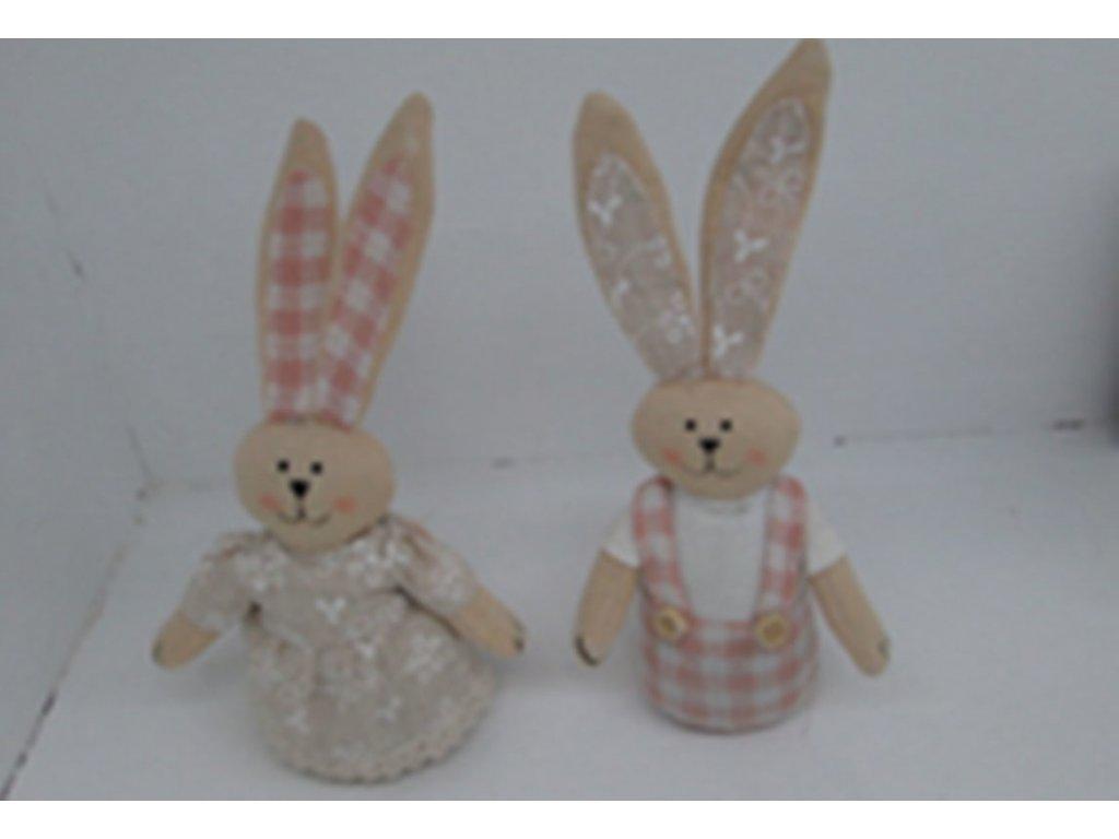 Zajíček, textilní dekorace, mix dvou druhů