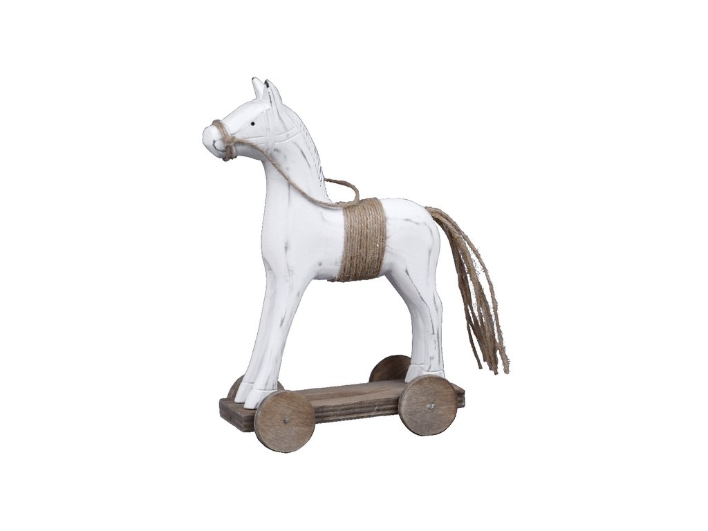 Koník na kolečkách | bílý