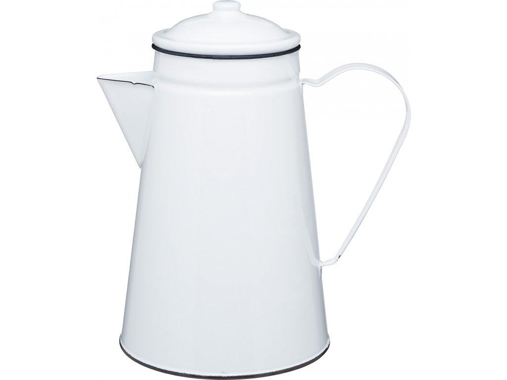 Smaltovaná konev na kávu Living Nostalgia bílá